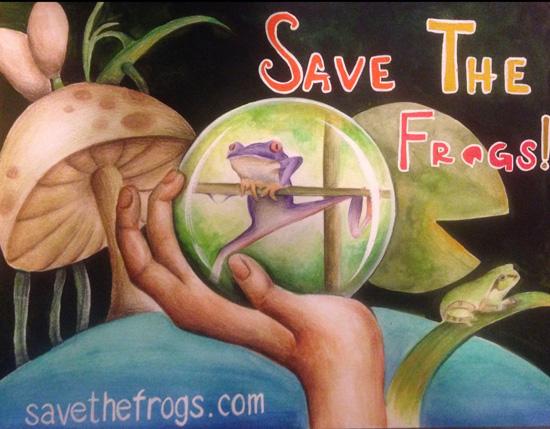 mushroom frog art