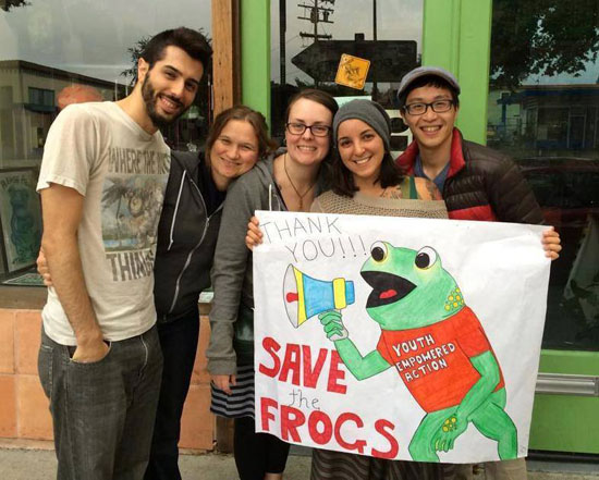 save the frogs volunteering
