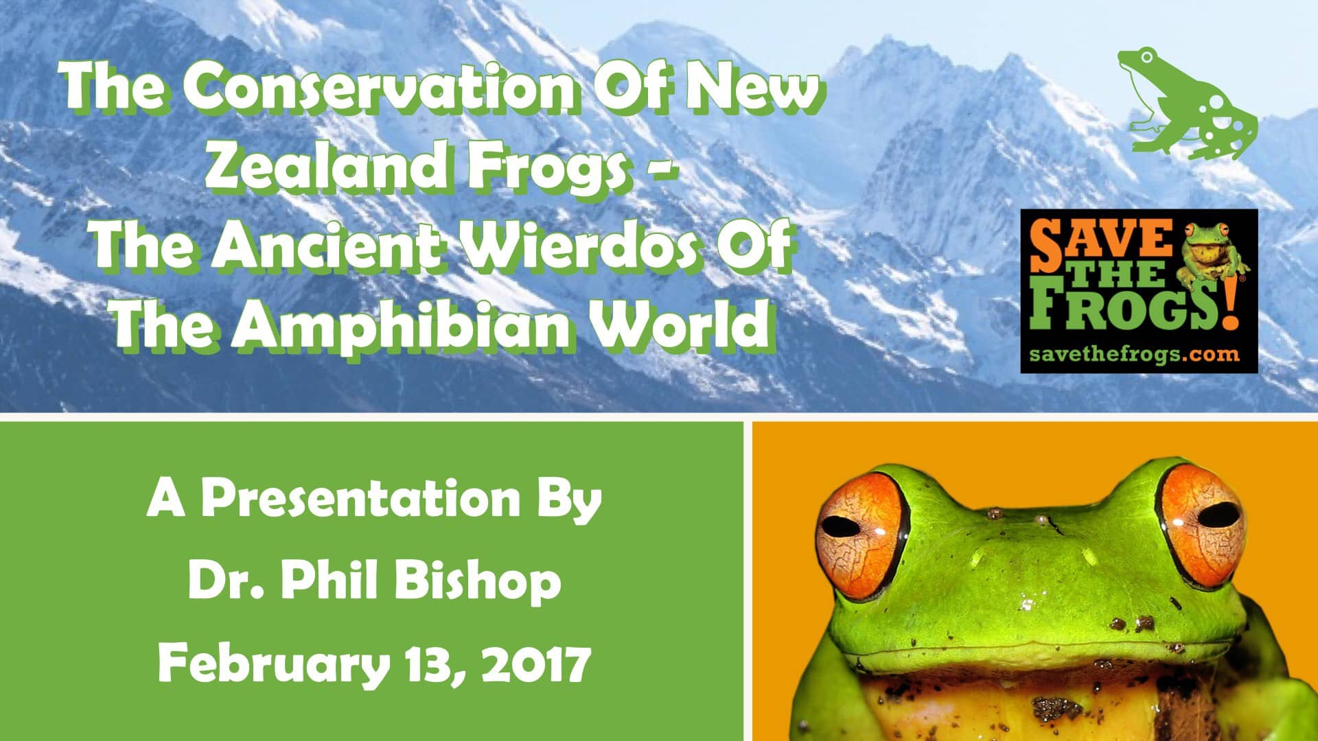 Phil Bishop amphibian presentation nz