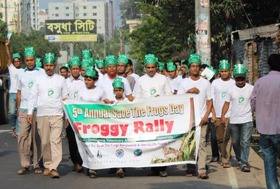 Chittagong save the frogs day