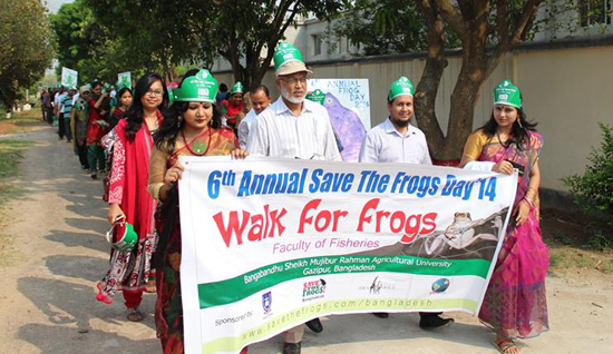 BSMARU save the frogs day volunteers