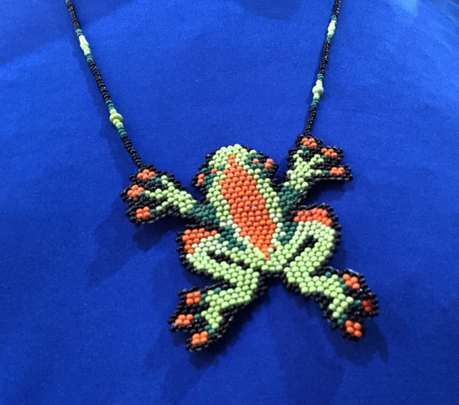 Beaded Frog Necklaces