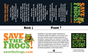 Bookmarks Save The Frogs Poetry
