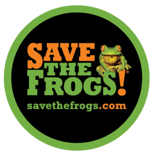 Save The Frogs Circle Sticker