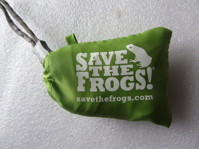 save the frogs tote bags
