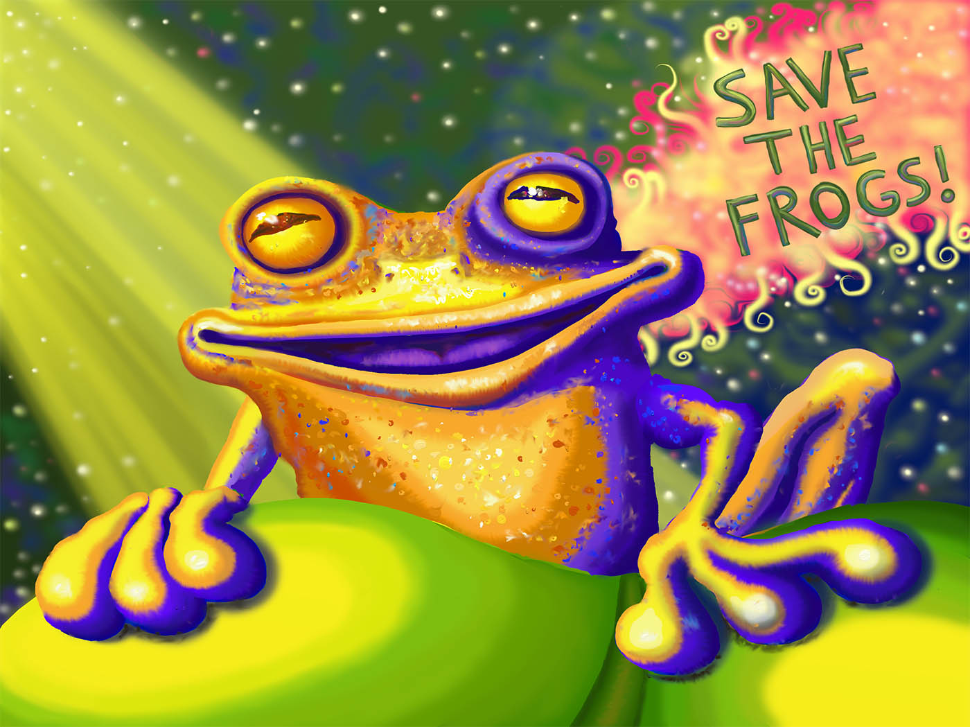 Frog Art by Christine Marsh - 2011 SAVE THE FROGS! Art Contest