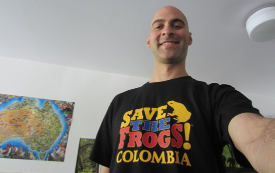 Colombia Shirts save the frogs Dr. Kerry Kriger