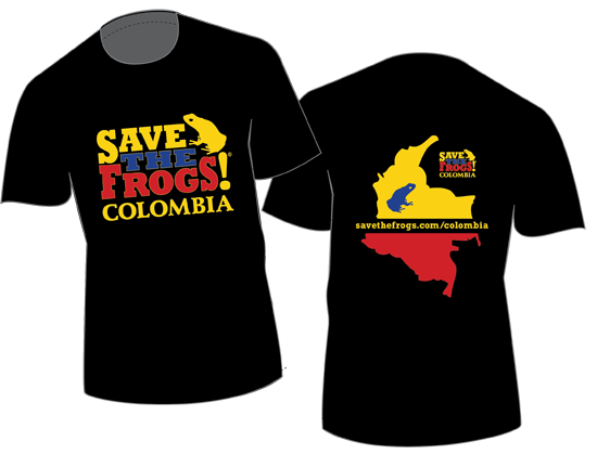 Colombia Shirts save the frogs