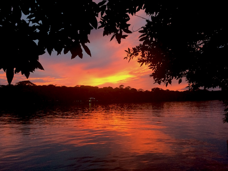 Costa Rica tortuguero sunset
