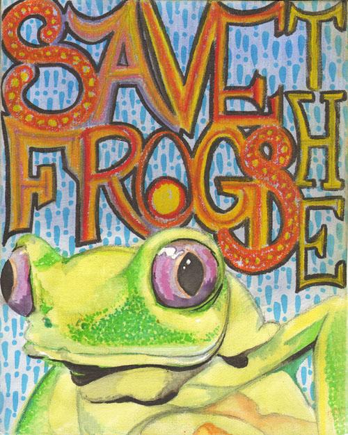 Evan Snowden Frog Art