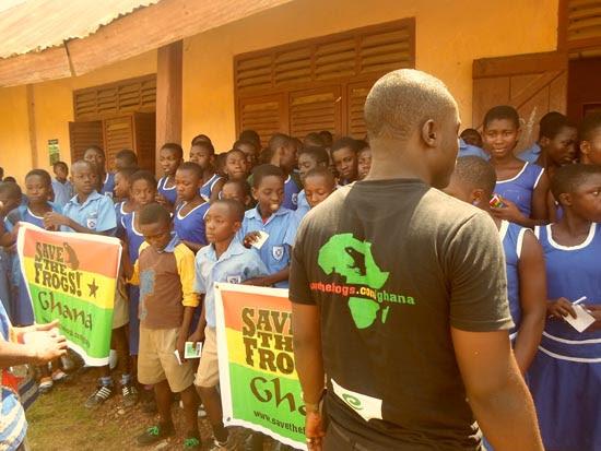 Gilbert Adum Save The Frogs Ghana