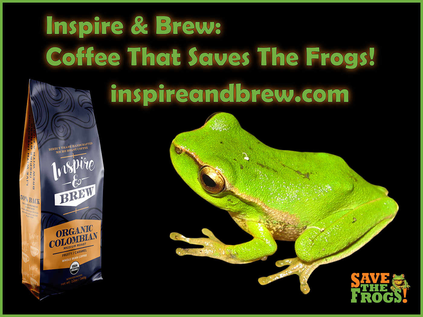 Inspire And Brew Coffee Frogs