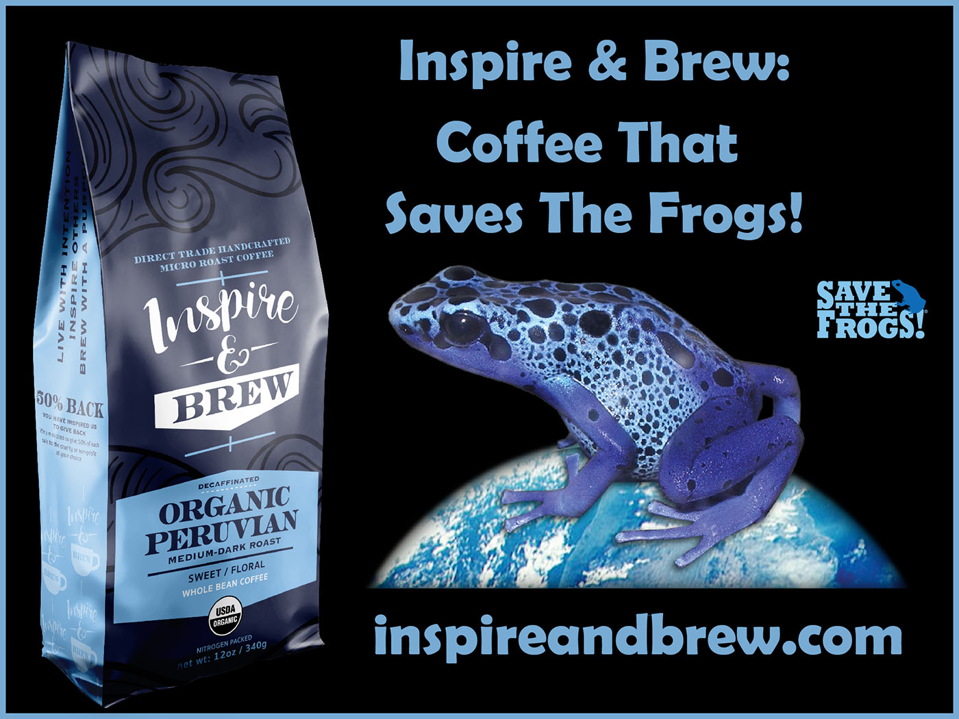 Inspire And Brew - Save The Frogs Coffee Roast Organic