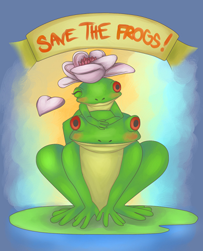 Jalisha McCoy frog art 2010 contest