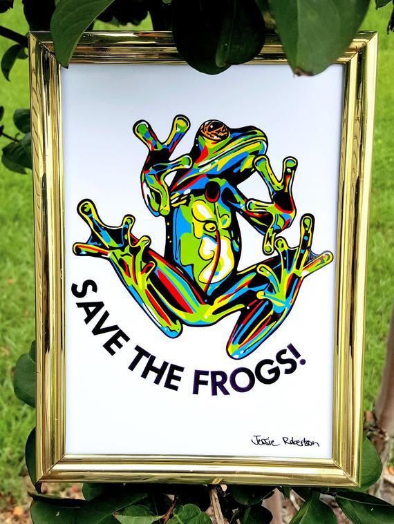 Jessie Robertson Frog Art