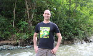 Optimistic Thought Green Frog Shirt Kerry Kriger