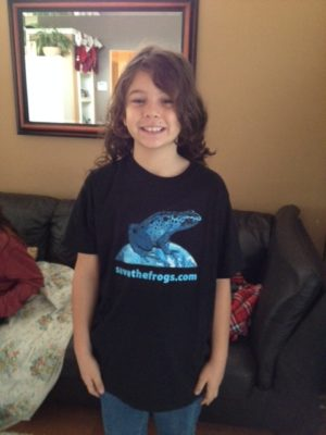SAVE THE FROGS! Blue Frog Shirts
