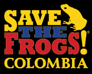 Save The Frogs Colombia Logo Black