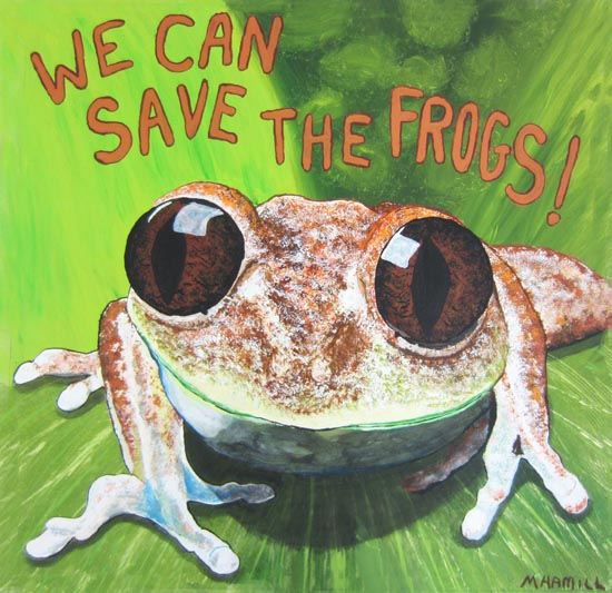 Michele Hamill- Grand Prize Frog Art