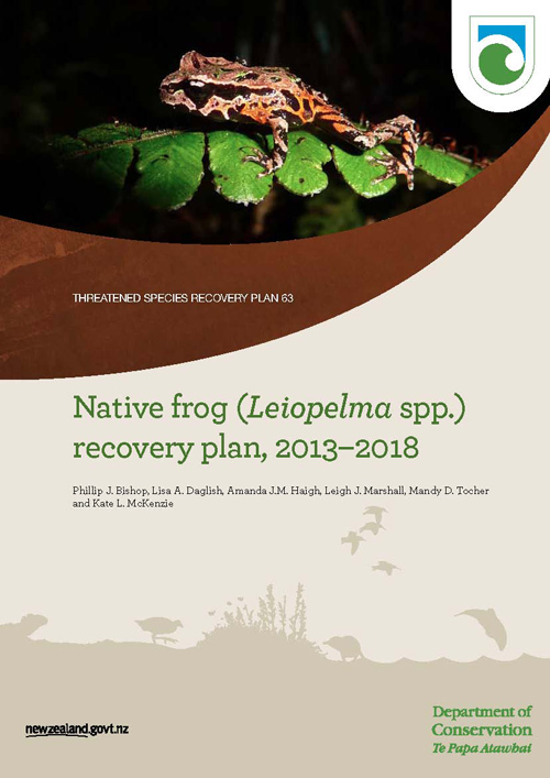 Native Frog Leiopelma Recovery Plan