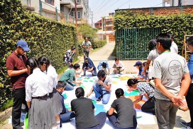 Nepal Sanepa STF Day 2017 mural2