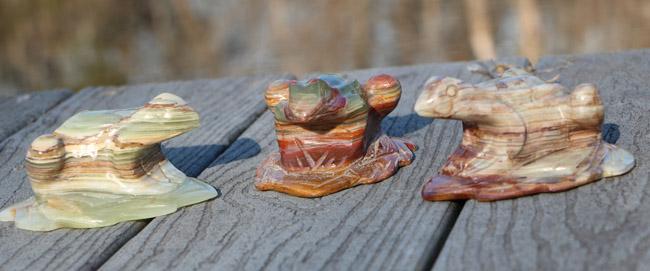 Onyx Frog Carvings