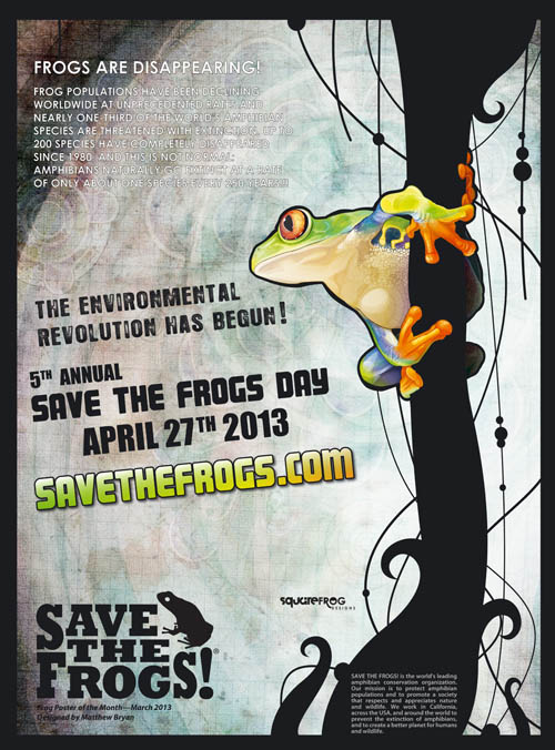 save the frogs day organizer