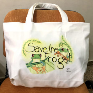 Save The Frogs Tote Bags Canvas - Red-Eyed Treefrogs