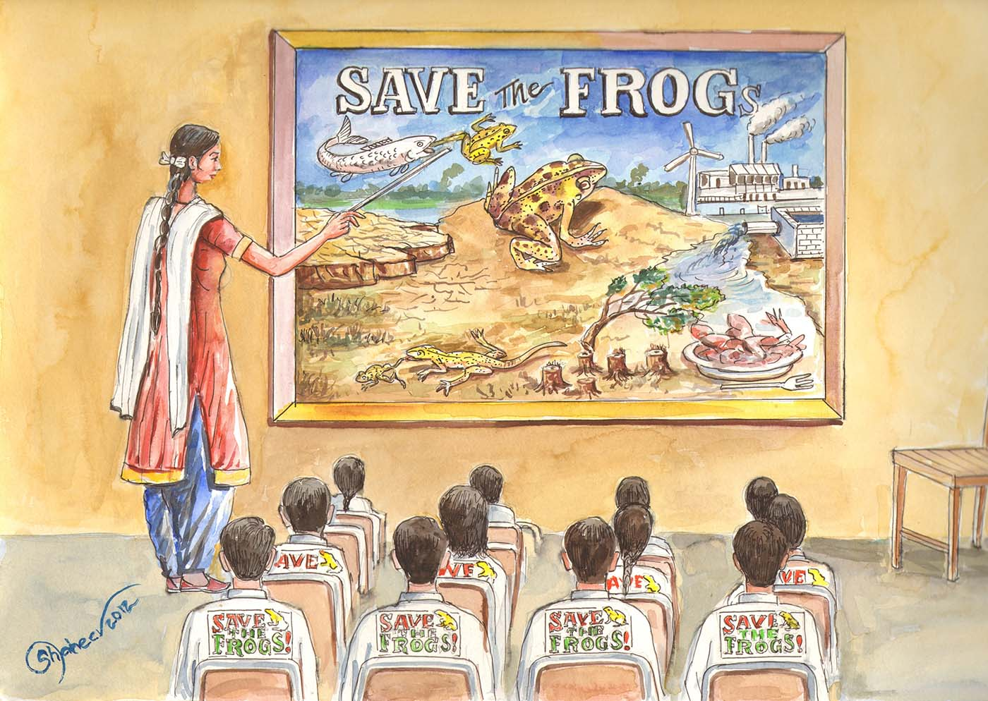 Save The Frogs Academy Art