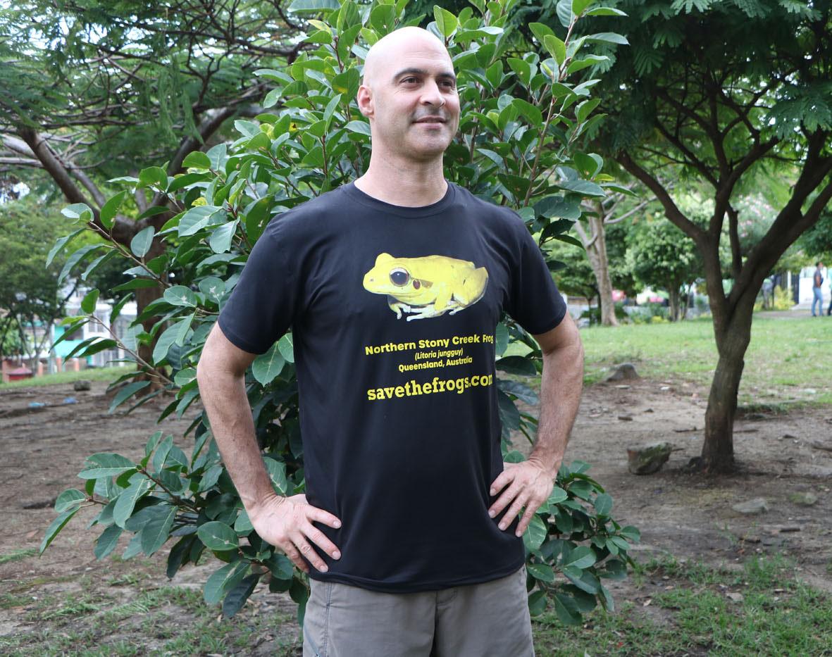 Shirt - Yellow Northern Stony Creek Frog - Litoria jungguy