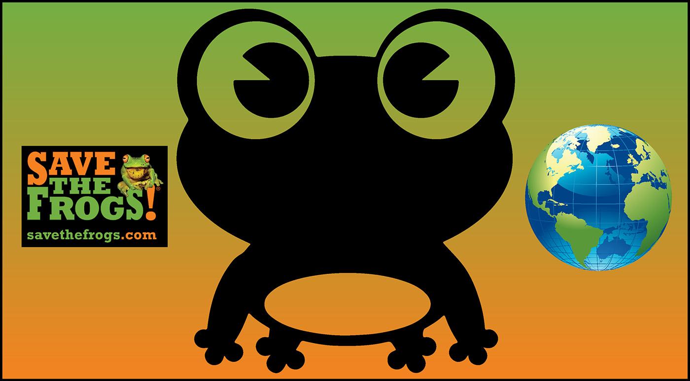 Silhouette Frog Green Orange Earth