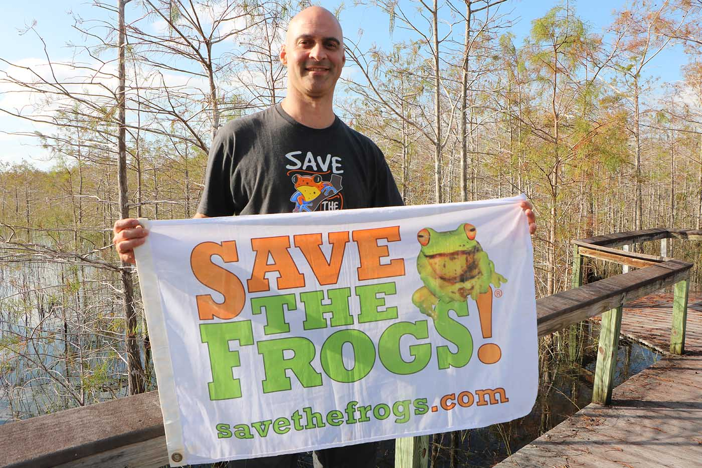 USA Florida Everglades Kerry Kriger Save The Frogs Flag 1 1400