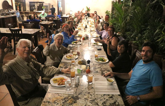arenal thermal pools dinner