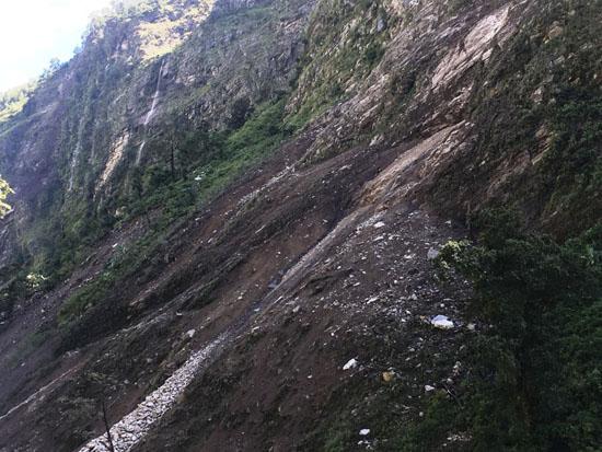 landslide tatopani