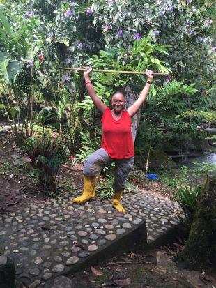deborah dempsey waterfall hike ecuador ecotour 2016