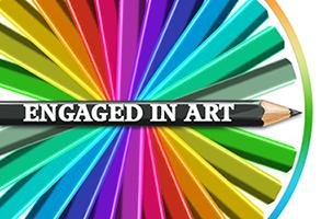 engaged in art logo