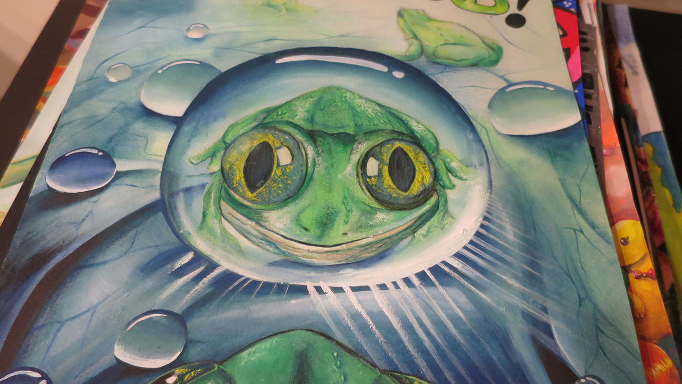 Frog Art Googly Eyes