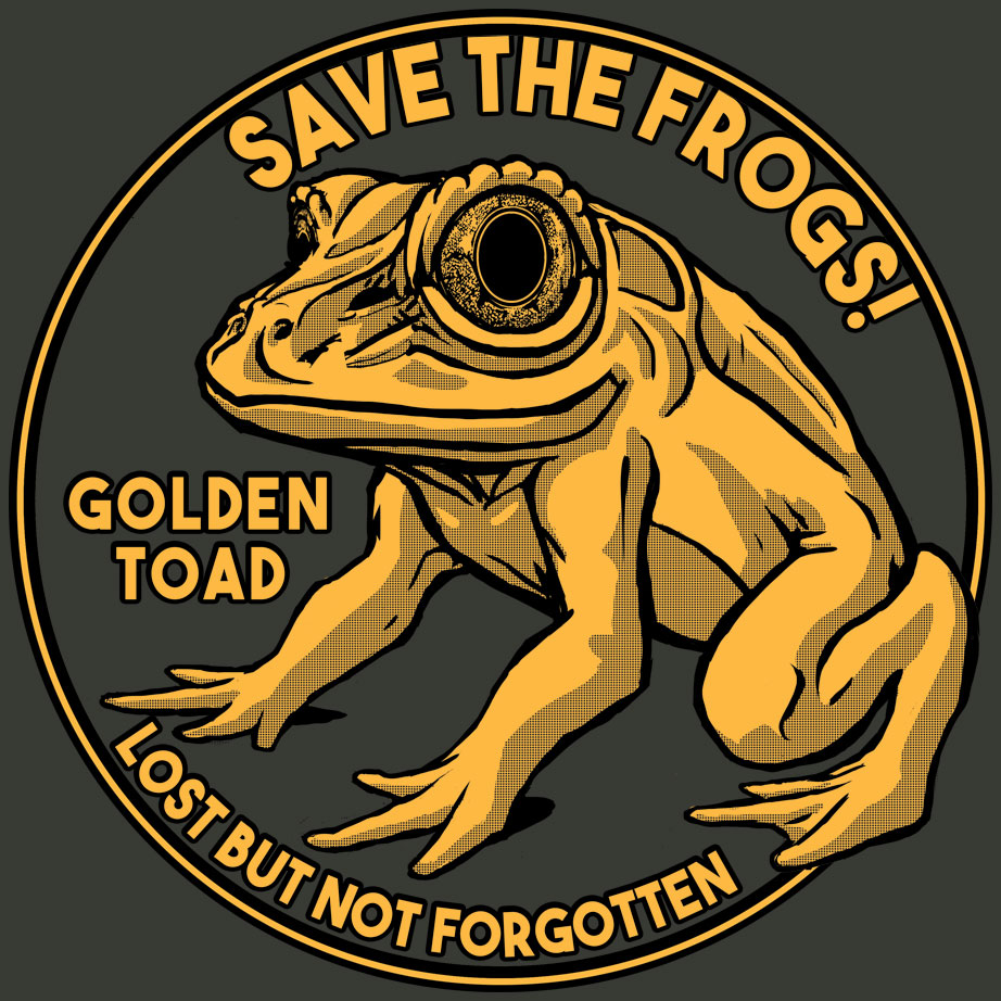 golden toad shirt