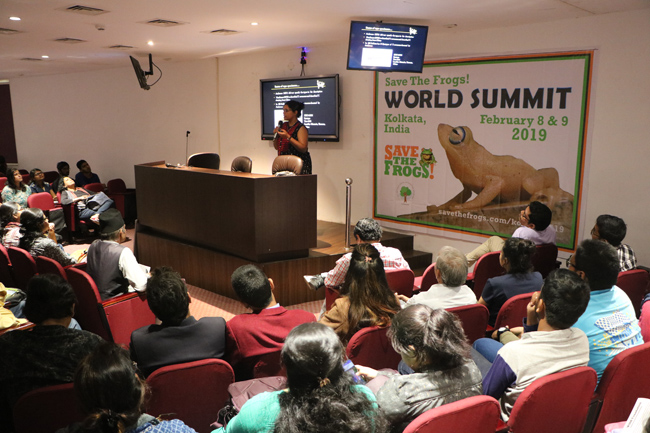 india save the frogs world summit 2019 kolkata shruti sengupta