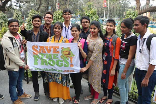 india save the frogs world summit 2019 kolkata flag