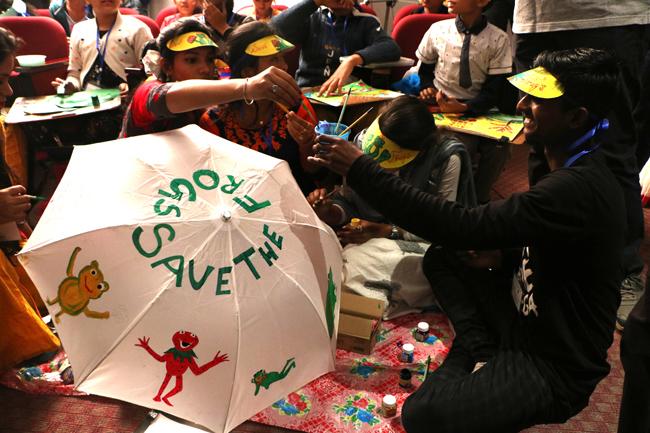 save the frogs art rahara nibedita