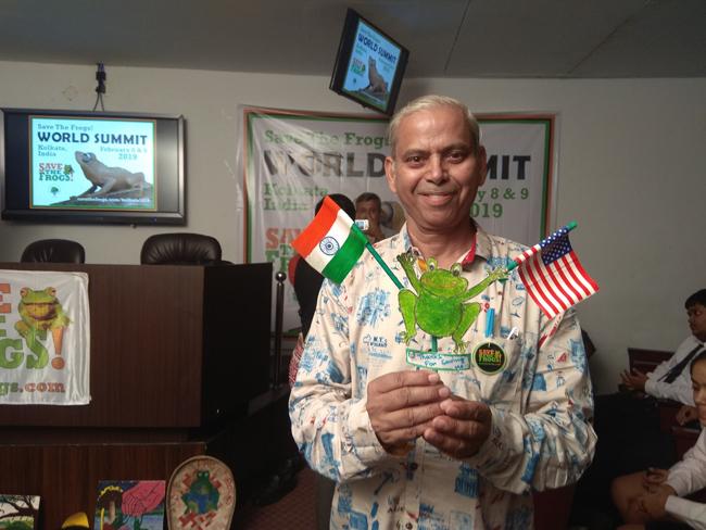 india save the frogs world summit 2019 kolkata krishan kumar sharma frogs
