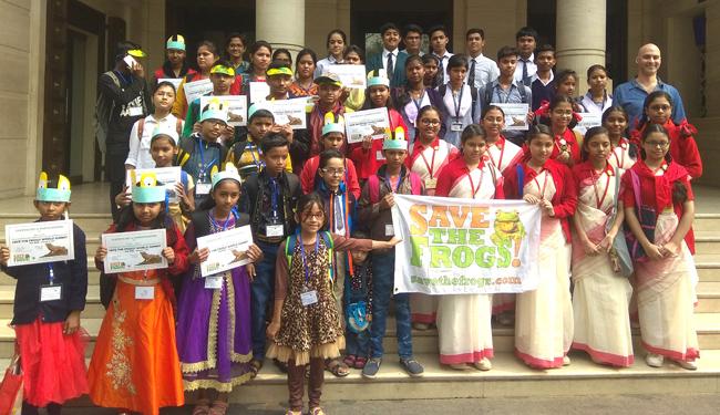 india save the frogs world summit 2019 kolkata kids
