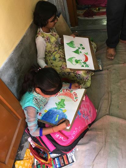 kolkata rahara nibedita 2018 kids painting
