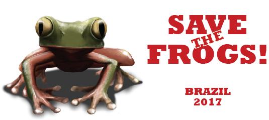 logo save the frogs brazil brasil