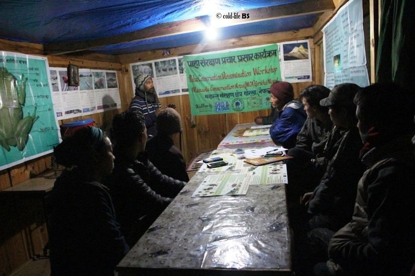 manaslu Amphibian Conservation Dissemination Workshop at Prok VDC biraj shrestha