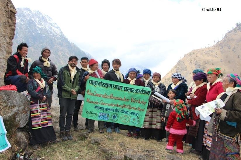 manaslu Amphibian Conservation Group at Pemathang monastery Lokpa biraj shrestha