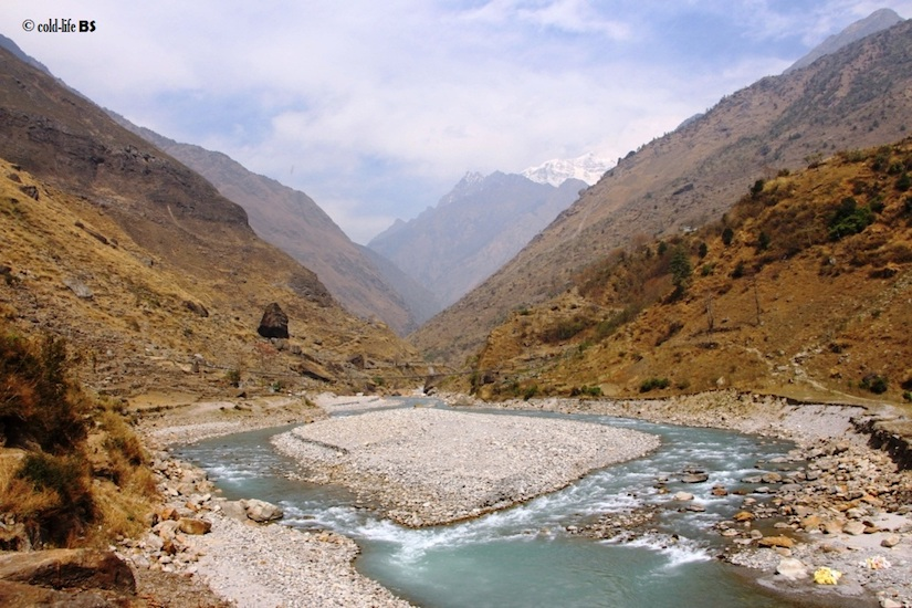 manaslu Budhi Gandaki River flowing swiftly biraj shrestha