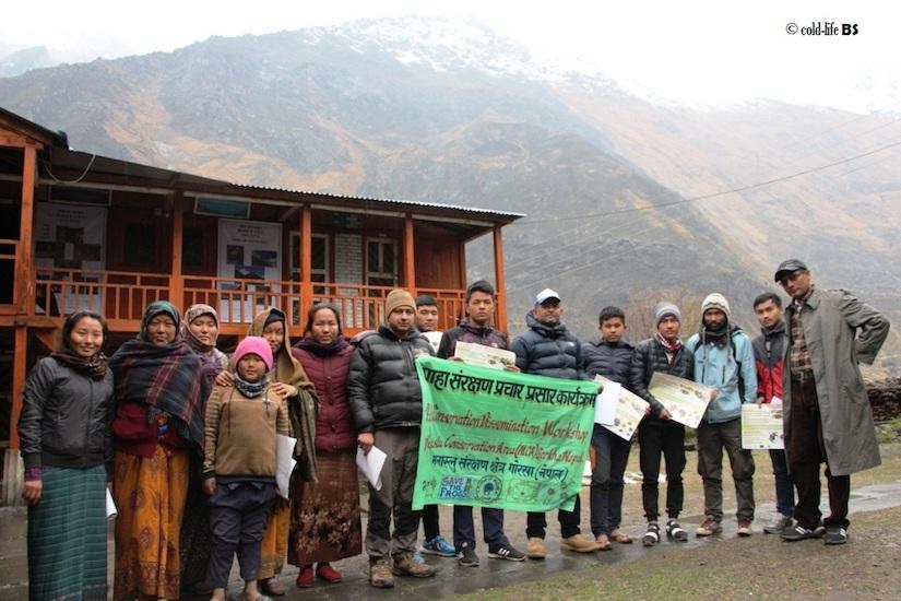 manaslu MCAP Office at Philim with Amphibian Conservation Group biraj shrestha