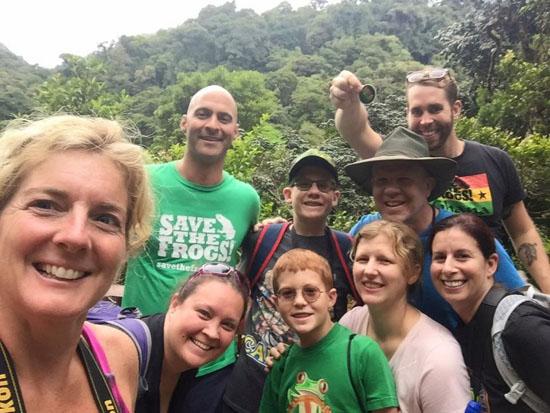 monteverde group hike smile